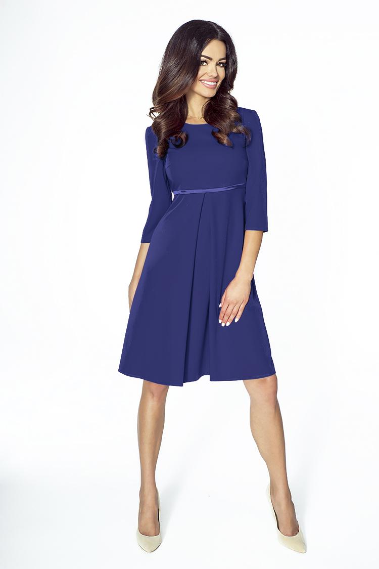 Elegantní šaty KARTES KM212-3 tmavě modré