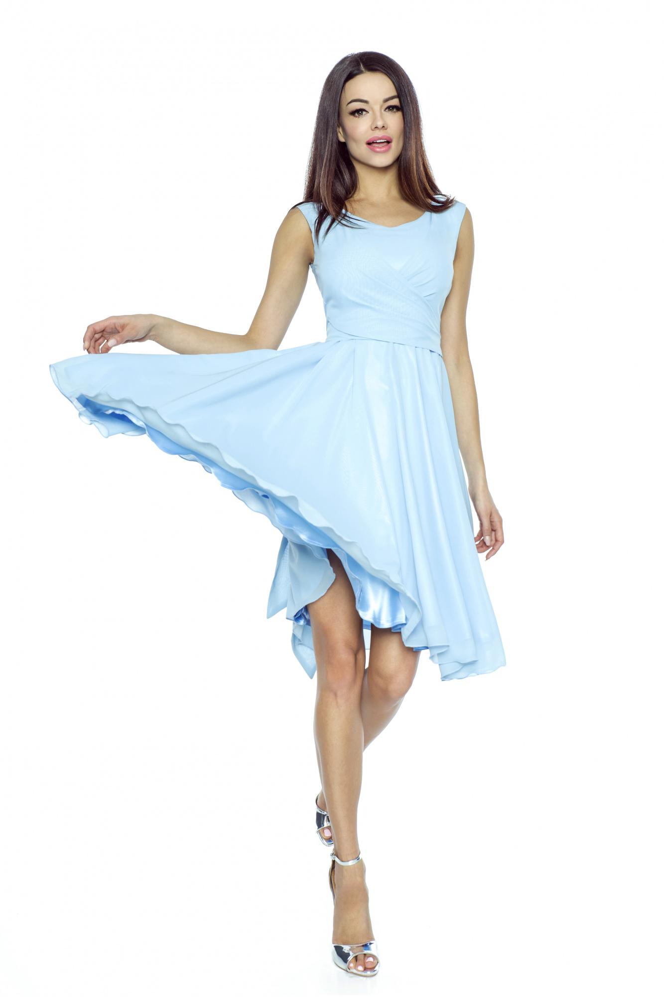 Koktejlové šaty KARTES KM227-3 modré