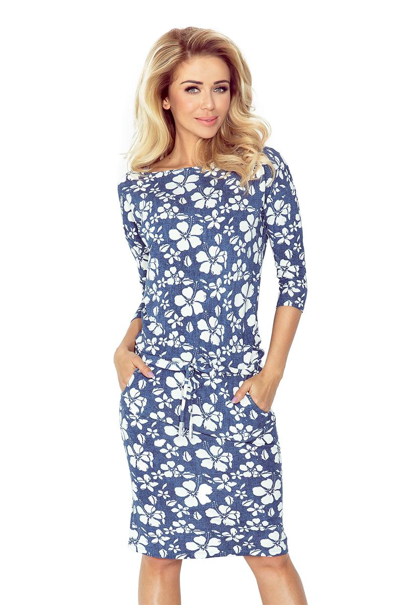 Sportovní šaty NUMOCO 13-62 modré s květy