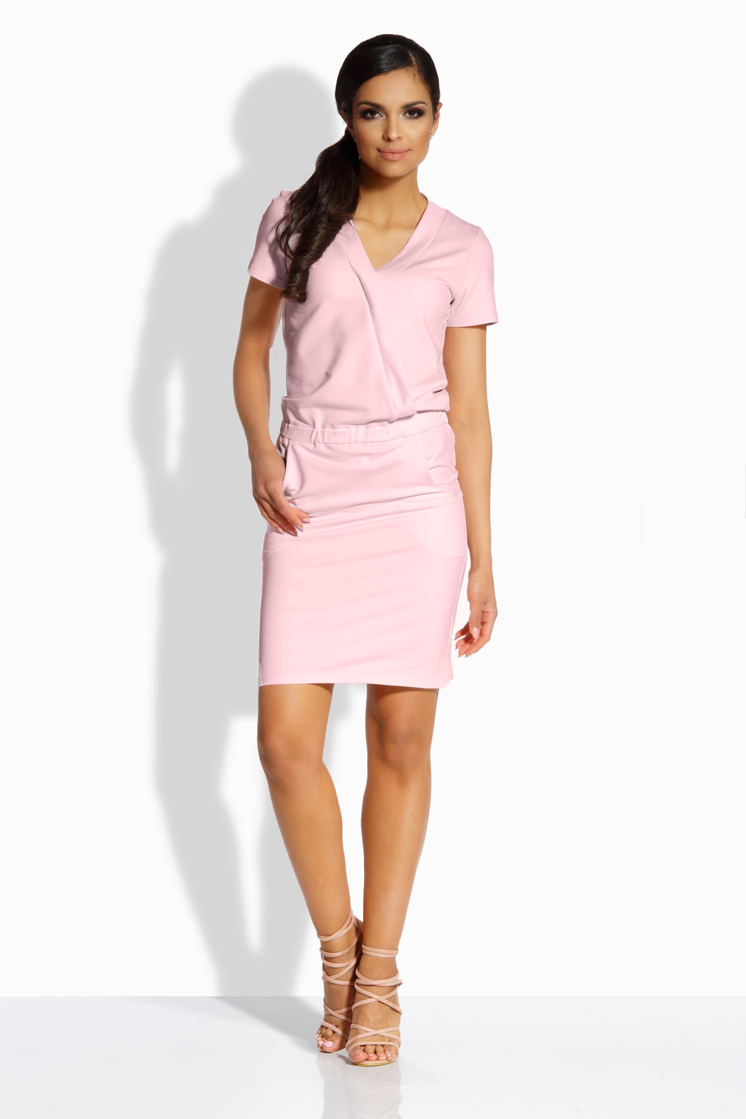 Dámské šaty LEMONIADE L196 růžové