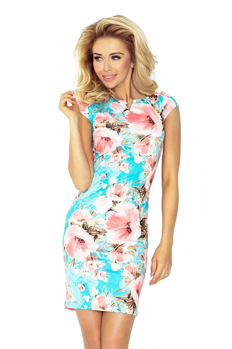 Květinové šaty NUMOCO 132-8 modré