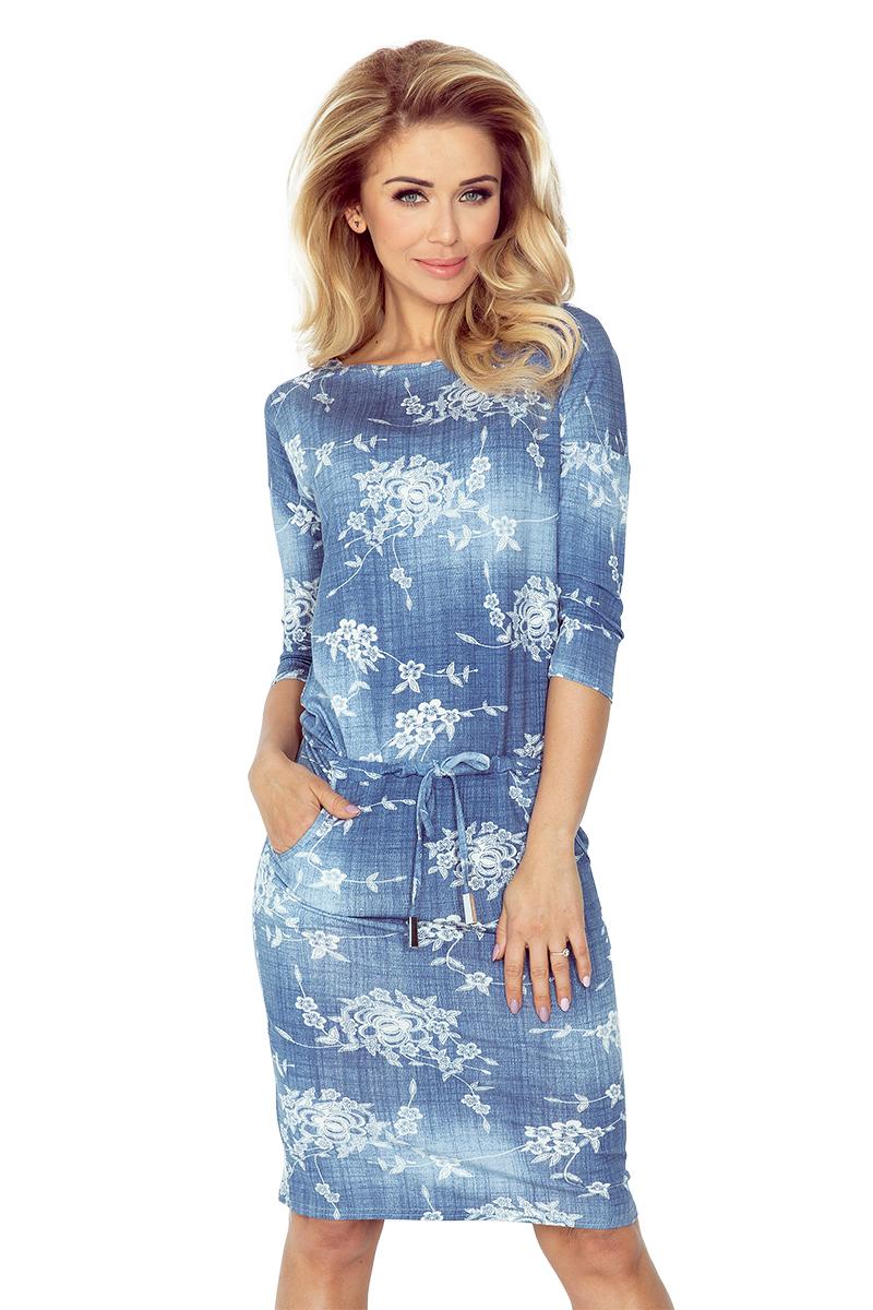 Sportovní šaty NUMOCO 13-56 modré s květy