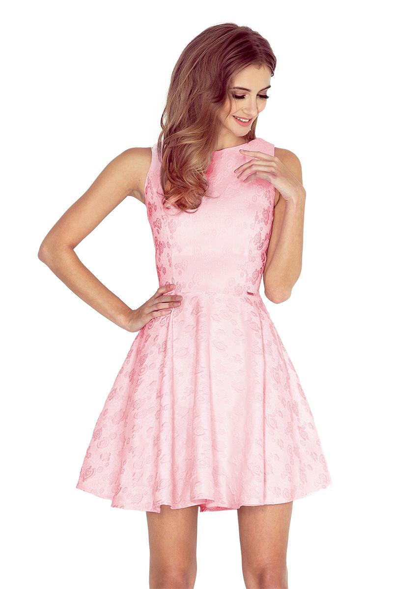 Elegantní šaty Numoco 125-18 růžové