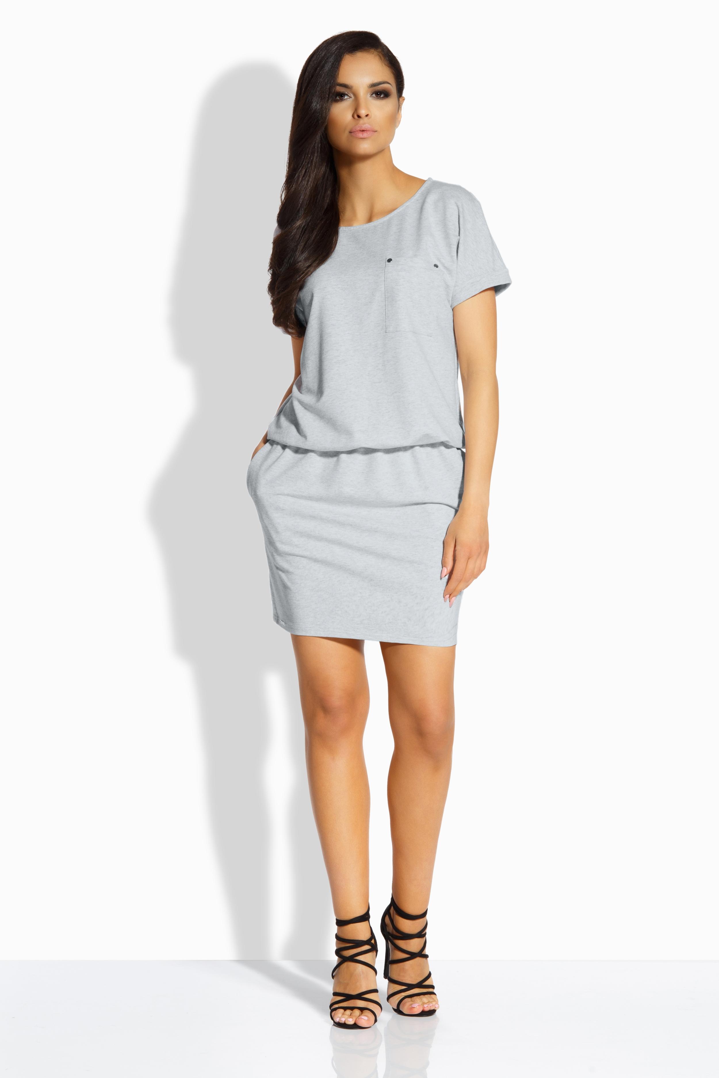 Bavlněné šaty Lemoniade L201 šedé